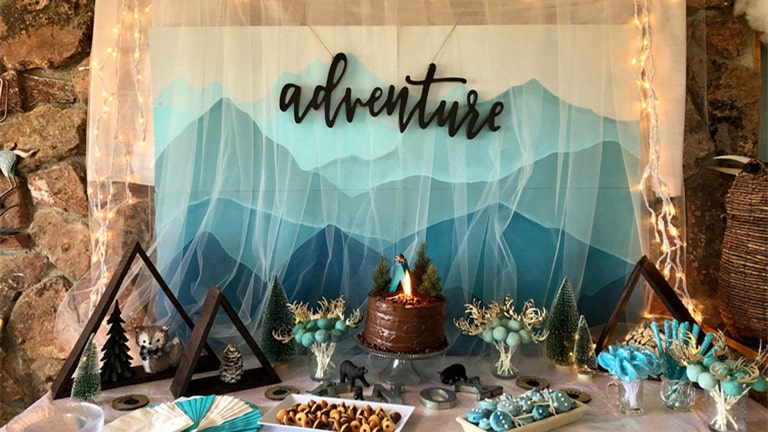 adventure baby shower theme