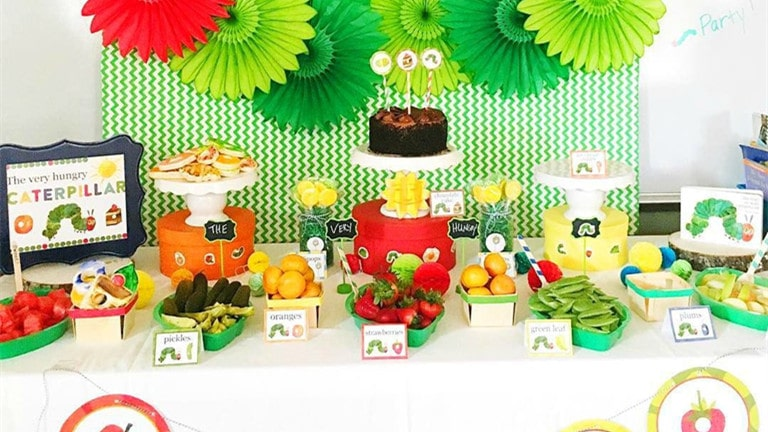 Hungry Caterpillar Baby Boy Shower Theme