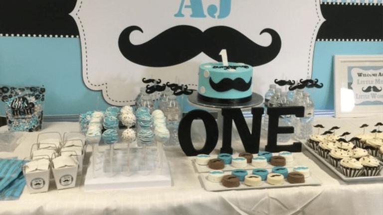 Mustache Baby Shower Theme